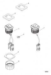 Комплект переключателя пуска/останова – установка заподлицо