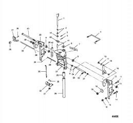 Схема Шарнирный кронштейн и кронштейн транца (Без усилителя дифферента)