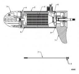 Схема Lower Unit Assembly (FW70 - Variable Sonar)(8M0052758)