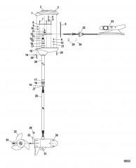 Двигатель для тралового лова в сборе (Модель FW71PFB) (24 В)