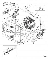 Стандартная система охлаждения Одинарный и трехточечный слив