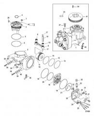 Схема Компоненты воздушного компрессора С/н 1B884880 и ниже