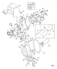 Схема Корпус кардана (Встроенный транец)