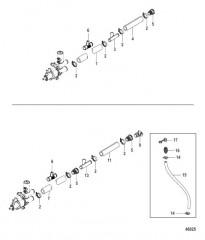 Схема Охлаждение пресной водой Шланги насоса забортной воды