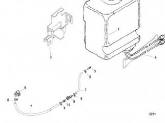 Бак для смазки привода в сборе