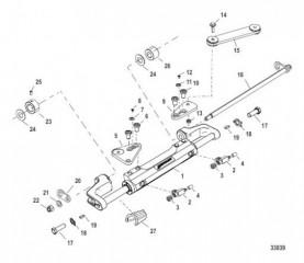 Цилиндр рулевого механизма в сборе (898349A04)