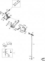 Тяга газа/тяга управления переключением передач Дистанционное управление