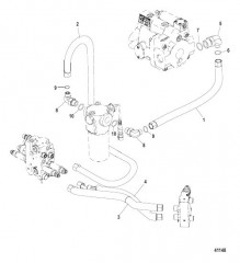 Схема Коленчатый патрубок, выхлоп POD Без крана для шланга системы откачки