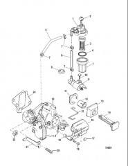 Схема Компоненты топливной системы (Коммерческие двигатели)