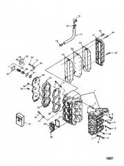 Блок цилиндров в сборе (Сер. № от 0E173409 до 0E287999)