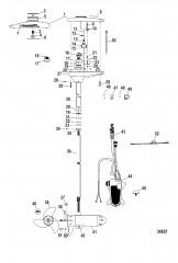 Схема Двигатель для тралового лова в сборе (TR109PFB / TR109PFBD) (36 В)