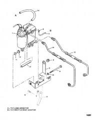 Схема Бак паросепаратора и топливопроводы