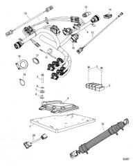 Жгут проводов и кронштейн в сборе Один двигатель