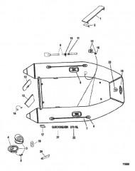 Схема Надувные лодки Quicksilver (270RL)