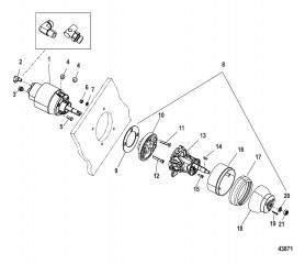 Комплект штурвала рулевого управления – наклонный (20 куб. дюйм.)