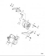 Схема Монтаж стартера и генератора