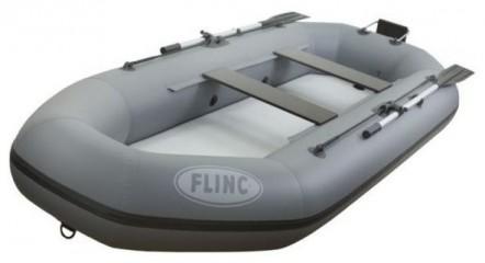 Надувная лодка ПВХ FLINC F280ТLA  (Цвет: Серый)