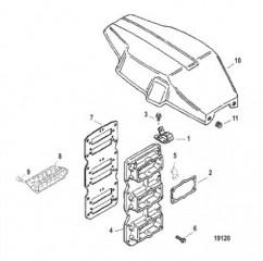 Схема Крышка блока с пластинчатыми клапанами/маховика