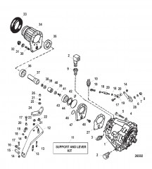 Схема Трансмиссия и компоненты (Вставной)