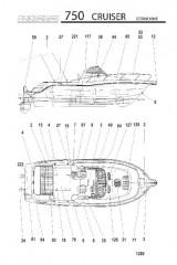 Схема МОДЕЛЬ 750 CRUISER (Поворотно-откидная колонка)