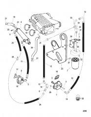 Схема Регулятор масла и маслоохладитель