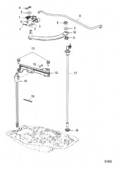 Схема Тяга механизма переключения передач Стандартный румпель