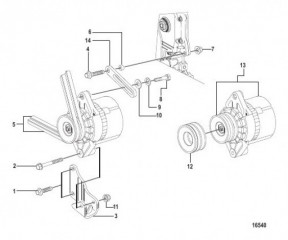 Схема Генератор и крепеж (MANDO)