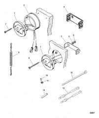 Схема Переключатель/талреп в сборе Сдвоенный двигатель
