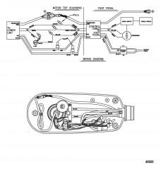 Схема электрических подключений (TR70LFBD) (TR82LFBD) (24 В)