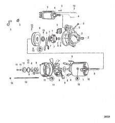 Схема Стартер в сборе (50-808011A1) (карданная передача)