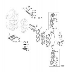 Схема Всасывающий коллектор и блок с пластинчатыми клапанами