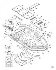Схема Модель Quicksilver Heavy Duty 430 (С алюминиевым настилом)