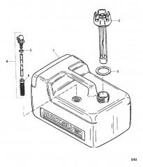 Бак в сборе Топливный бак (пластмассовый, 3.2 галл.)