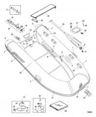 Схема Mercury OceanRunner Hypalon - 420/460 Белый (2012 и позднее)