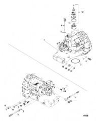 Схема Подъемный патрубок, выхлоп QSC, центр, конструкция II. со штампом 8M6002616