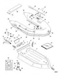 Схема Надувные лодки Dynamic из ПВХ – 260 /280 /310 (Mercury 2006/2008)