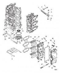Блок с пластинчатыми клапанами