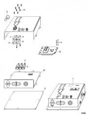Схема Электрические компоненты Интерфейсная панель судна (VIP) (48 контакта)