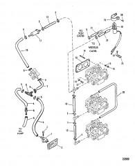 Схема ТОПЛИВОПРОВОДЫ (Исп. с карбюраторами WMH-30/31/32/33/34)