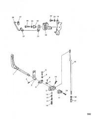 Схема Тяга управления дроссельной заслонкой/переключением передач