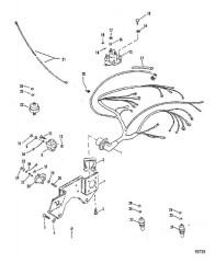 Схема Выносной охладитель моторного масла (Исп. с одинарным охладителем масла)
