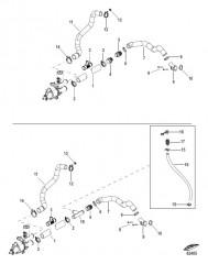 Схема Fresh Water Cooling Sea Pump Hoses
