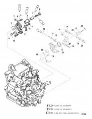 Схема ТЯГА ГАЗА (С/Н 0G590000/BEL-9973100 И ВЫШЕ)