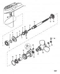Картер редуктора Вал гребного винта – передаточное число 1.92:1