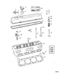 Головка цилиндра (370/400/440-С/Н-5670299 и выше)