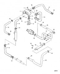 Корпус термостата и шланги