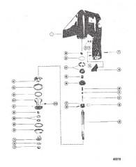 Схема КАРТЕР РЕДУКТОРА (ВАЛ ГРЕБНОГО ВИНТА)