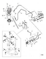 Схема Топливный фильтр и связанные детали