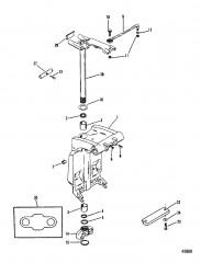 Шарнирный кронштейн и рычаг рулевого механизма