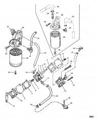 Схема Топливный насос (Пластмассовый корпус со съемными фитингами)